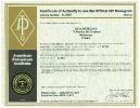 Certificate API 5L