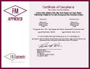 FM  Approval Certificate